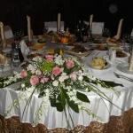 свадьба - композиция на стол
