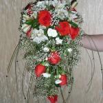 свадебный каскадный букет