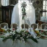 композиция на стол и свадебная арка
